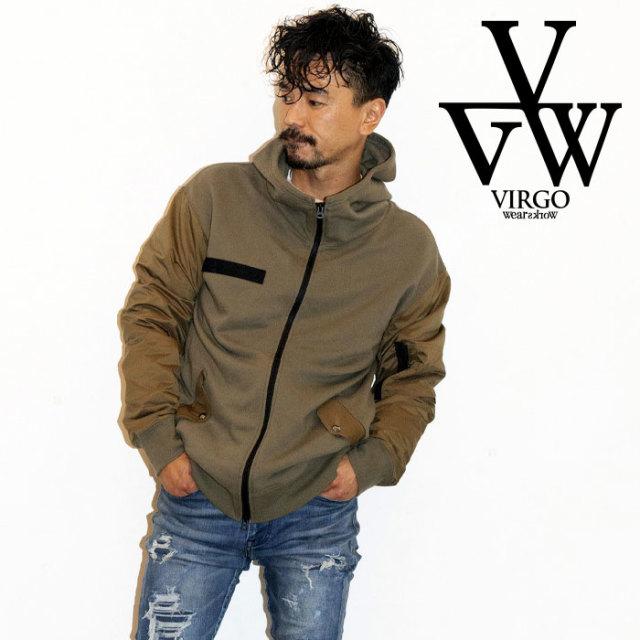 【SALE30%OFF】 VIRGO ヴァルゴ ジャケット MONSTER VA1 【MA-1 スウェットジップパーカー ジャケット】【セール】【2019 LATE FA