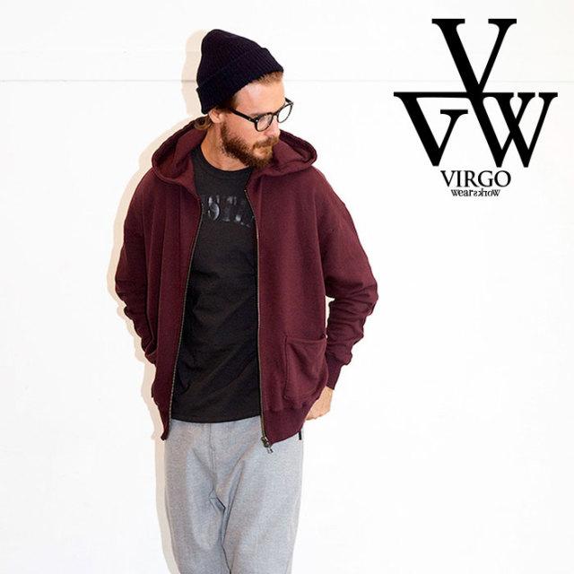 VIRGO (ヴァルゴ)(バルゴ) DOLMAN ZIPPY HOODIE 【ジップパーカー ドルマン】【ブラック グレー】 【送料無料】【VG-SWT-120】【2