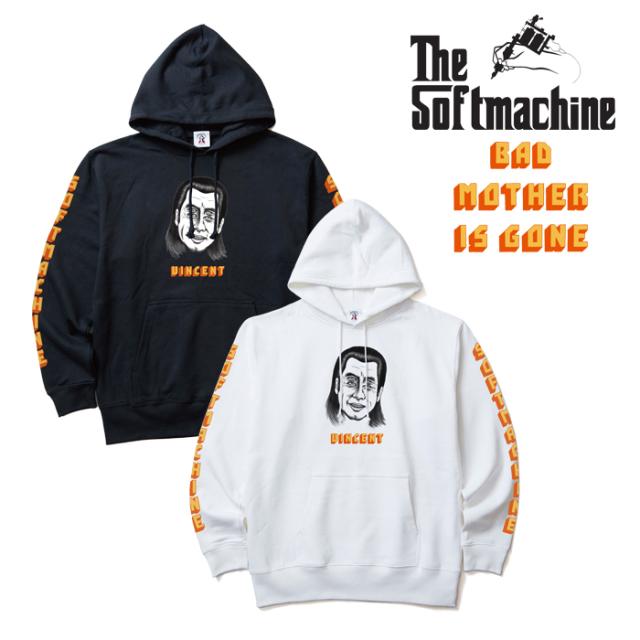 SOFTMACHINE(ソフトマシーン) VINCENT HOODED 【パーカー フード スウェット】【ホワイト ブラック タトゥー】【2019AUTUMN&WINTER