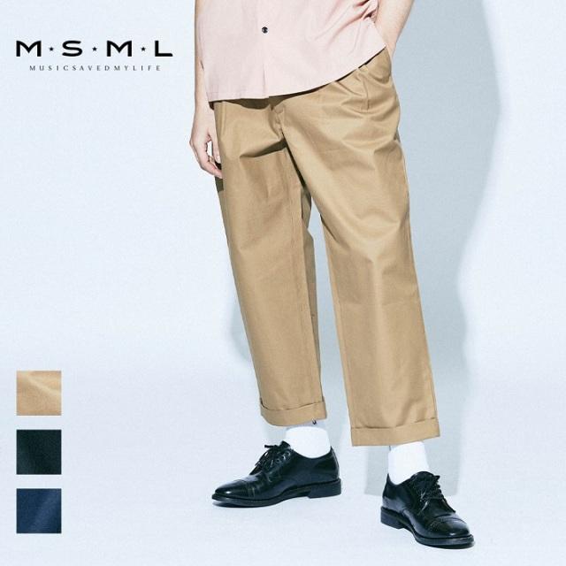 【先行予約】 MSML VENTILE TWO TUCK WIDE CHINO PANTS M11-02A1-PL01 21AW T$UYO$HI BONEZ ワイドパンツ パンツ チノパンツ チノパ