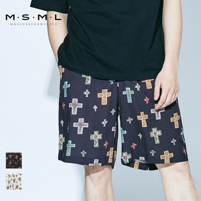MSML/CROSSES WIDE SHORTS/M11-02A1-PS02