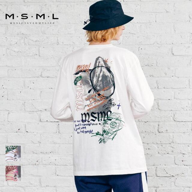 【取り寄せ対応】 MSML OVERSIZED GRAPHIC LONG SLEEVE TEE M11-02A5-CL03 21AW T$UYO$HI Tシャツ ロンT カットソー トップス ロゴ