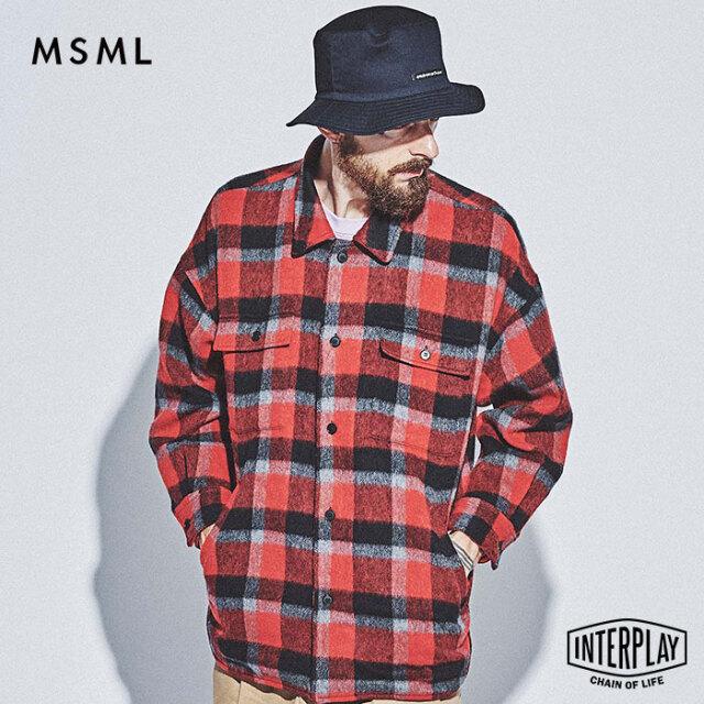 【SALE30%OFF】エムエスエムエル MSML ウールチェックシャツジャケット WOOL CHECK SHIRT JACKET M11-02L5-JK03 THEBONEZ TSUYOSHI