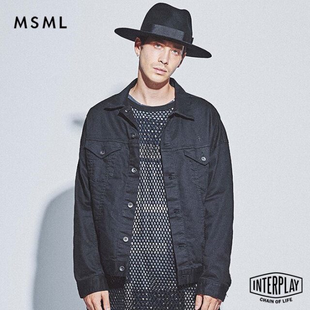 【SALE30%OFF】エムエスエムエル MSML オーバーサイズブラックジャケット OVERSIZED BLACK JACKET M11-02L5-JK08 THEBONEZ TSUYOSHI