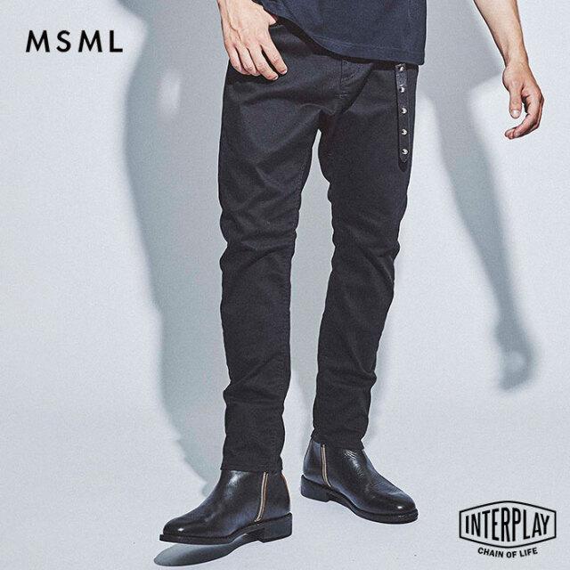 【先行予約】エムエスエムエル MSML ブラックサルエルスキニーパンツ BLACK SARROUEL SKINNY PANTS M11-02L5-PL04 THEBONEZ TSUYOSHI