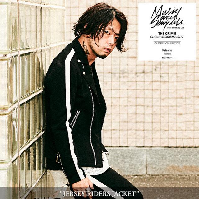 MSML(MUSIC SAVED MY LIFE) JERSEY RIDERS JACKET 【2018SPRING/SUMMER先行予約】 【キャンセル不可】【送料無料】 【M1H1K-JK01