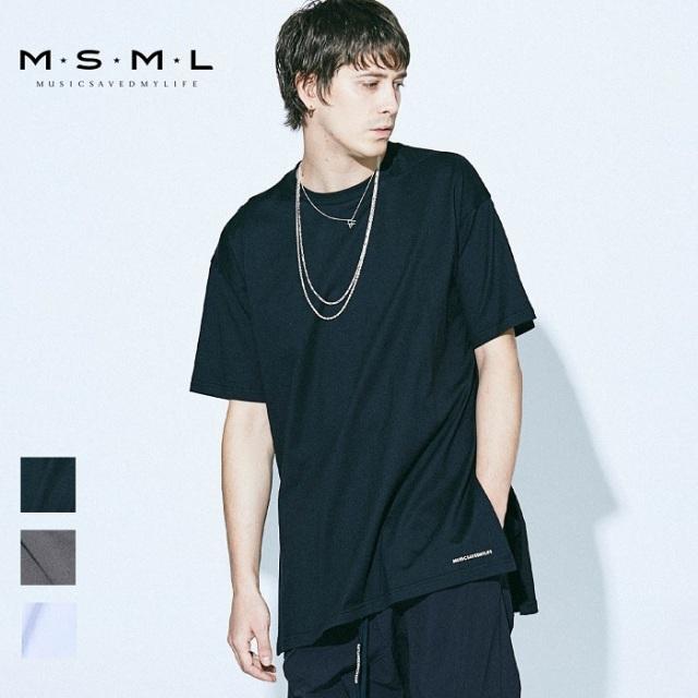MSML/SIDE SLIT SHORT SLEEVE TEE/M21-02A1-CS01トップス/ロゴ/オーバーサイズ/coldrainTシャツ/ストリート/ファッション/春/夏/春服