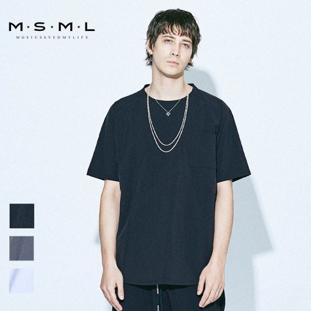 MSML/NYLON BIG TEE/M21-02A1-SS02トップス/クルーネック/ショートスリーブ/オーバーサイズ/coldrainTシャツ/ナイロン/ファッション/