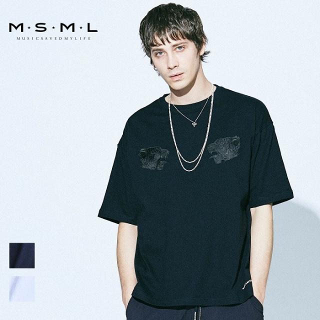 MSML/TIGER EMBROIDERY BIG TEE/M21-02A1-TS01トップス/オーバーサイズ/coldrainTシャツ/刺繍/ストリート/ファッション/春/夏/春服/
