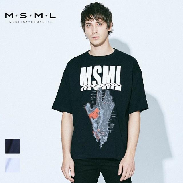 MSML/GRAPHIC BIG TEE-HAND/M21-02A1-TS02トップス/オーバーサイズ/グラフィック/coldrainTシャツ/ストリート/ファッション/春/夏/春