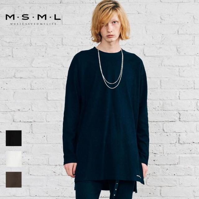 【取り寄せ対応】 MSML OVERSIZED SIDE SLIT LONG CUTSEW M21-02A5-CL02 21AW KATSUMA Tシャツ ロンT カットソー トップス スリット
