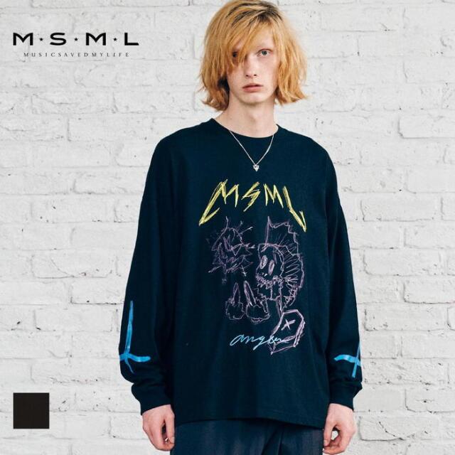 【取り寄せ対応】 MSML OVERSIZED ANGER LONG SLEEVE TEE M21-02A5-CL03 21AW KATSUMA Tシャツ ロンT カットソー トップス ロゴ プリ