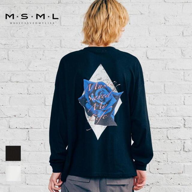 【取り寄せ対応】 MSML OVERSIZED ROSE LONG SLEEVE TEE M21-02A5-CL04 21AW KATSUMA Tシャツ ロンT カットソー トップス ロゴ プリ