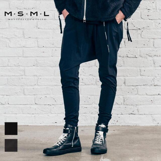 【取り寄せ対応】 MSML NYLON SAROUEL PANTS M21-02A5-PL03 21AW KATSUMA ナイロン サルエルパンツ パンツ カジュアル ファッション