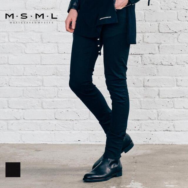 【先行予約】 MSML BLACK SKINNY PANTS M21-02A5-PL04 21AW KATSUMA スキニーパンツ パンツ ストレッチ カジュアル ファッション ブ