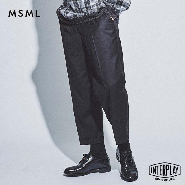 【先行予約】エムエスエムエル MSML ワンタッククロップドパンツ ONE TUCK CROPPED PANTS M21-02L5-PL04 coldrain Katsuma スラック