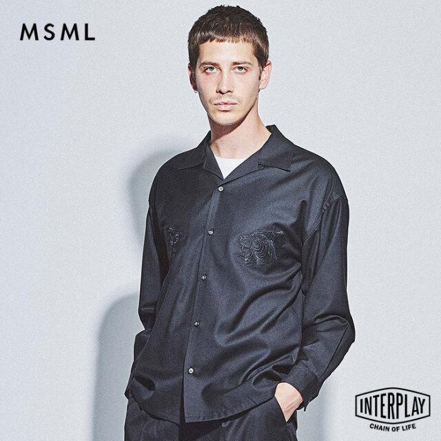 【SALE30%OFF】エムエスエムエル MSML オープンカラー刺繍長袖シャツ EMBROIDERY OPEN COLLAR LONG SLEEVE SHIRT M21-02L5-SL01 cold