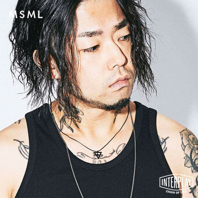 【SALE30%OFF】エムエスエムエル MSML ブラックネックレス BLACK NECKLACE M2A1-AC01 coldrain Katsuma ブラック ネックレス
