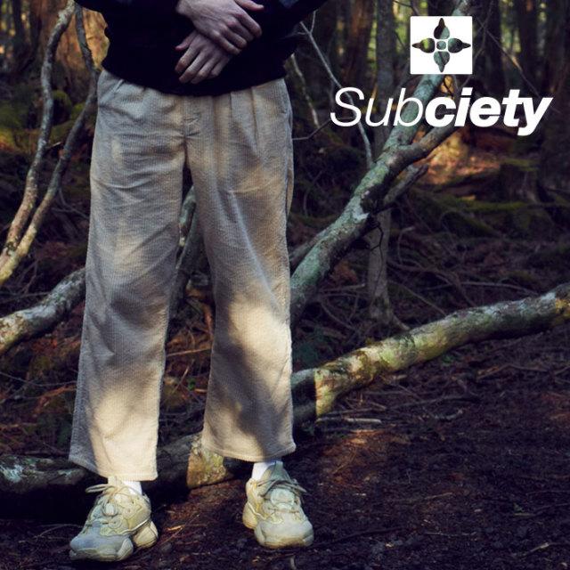SUBCIETY(サブサエティ) CORDUROY SLACKS 【2019AUTUMN/WINTER先行予約】 【キャンセル不可】【101-01471】【スラックス】