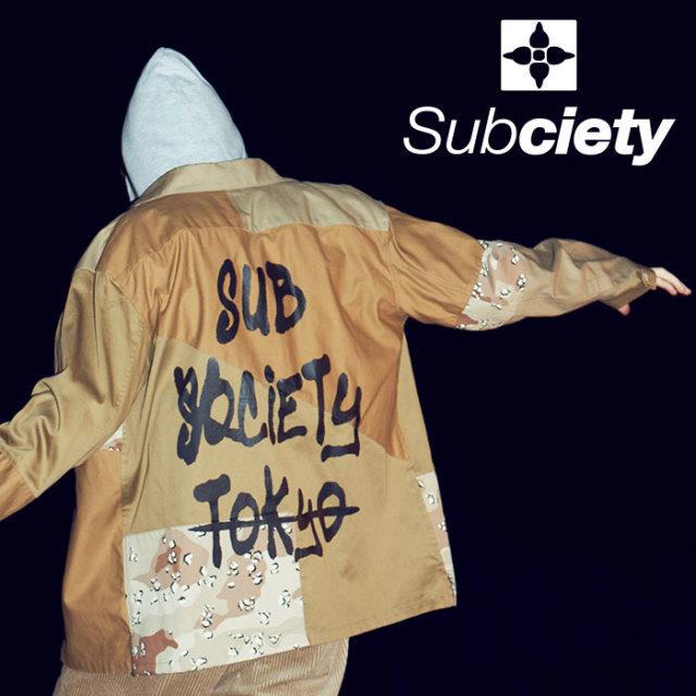 SUBCIETY(サブサエティ) MILITARY SHIRT 【2019AUTUMN/WINTER先行予約】 【キャンセル不可】【101-20457】【シャツ】