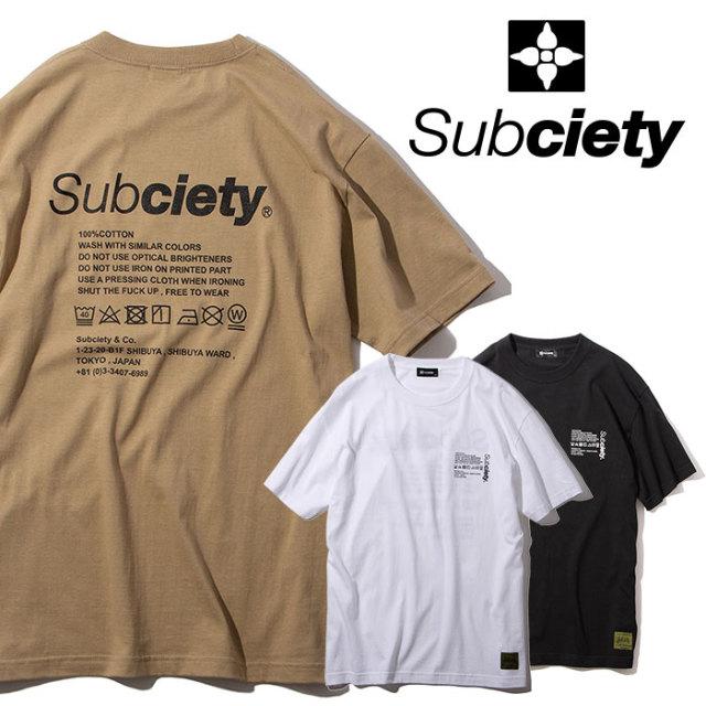 SUBCIETY(サブサエティ) LABEL SS 【2019AUTUMN/WINTER先行予約】 【キャンセル不可】【101-40467】【Tシャツ】