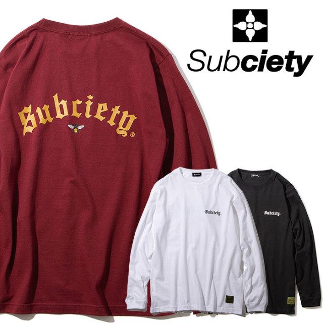 SUBCIETY(サブサエティ) STING L/S 【2019AUTUMN/WINTER先行予約】 【キャンセル不可】【101-44461】【ロングスリーブTシャツ】