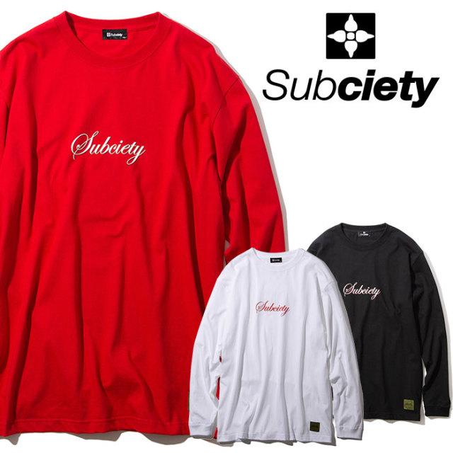 SUBCIETY(サブサエティ) THE BIRTH L/S 【2019AUTUMN/WINTER先行予約】 【キャンセル不可】【101-44464】【ロングスリーブTシャツ