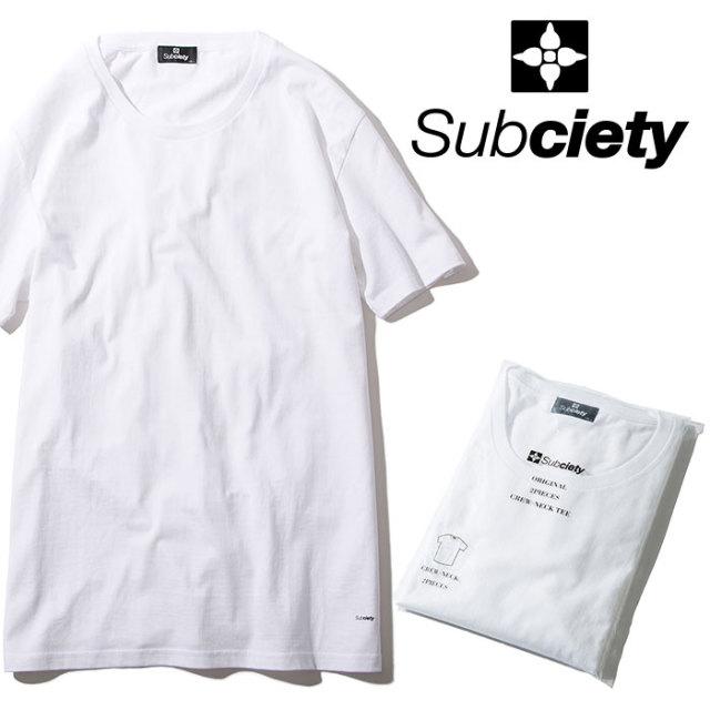 SUBCIETY(サブサエティ) PACK TEE 【2019AUTUMN/WINTER先行予約】 【キャンセル不可】【105-40022】【Tシャツ】