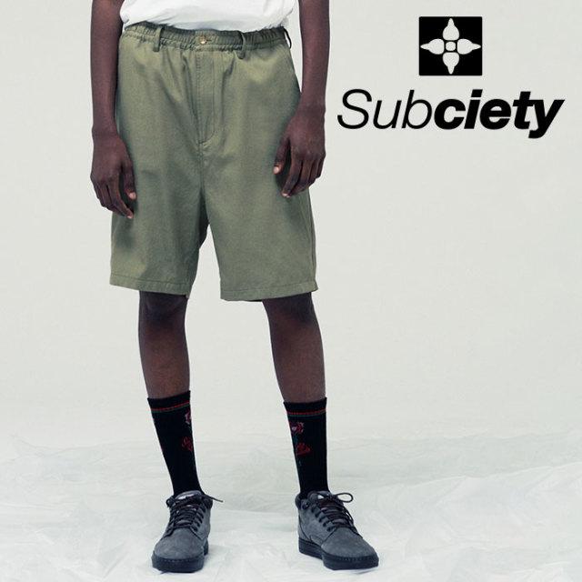 SUBCIETY(サブサエティ) LINEN SHORTS 【2019SUMMER先行予約】 【キャンセル不可】【109-02417】【ショーツ】