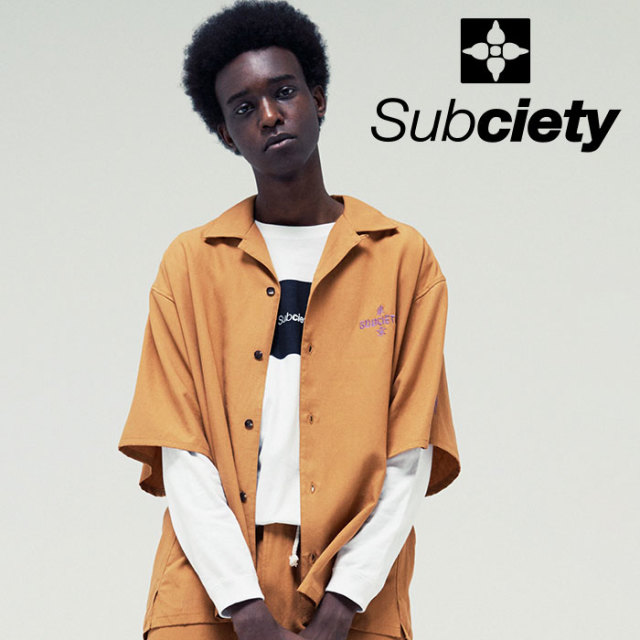 SUBCIETY(サブサエティ) DLOP SHOULDER SHIRT 【2019SUMMER先行予約】 【キャンセル不可】【109-22394】【シャツ】
