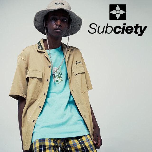 SUBCIETY(サブサエティ) MILITARY SHIRT 【2019SUMMER先行予約】 【キャンセル不可】【109-22396】【シャツ】