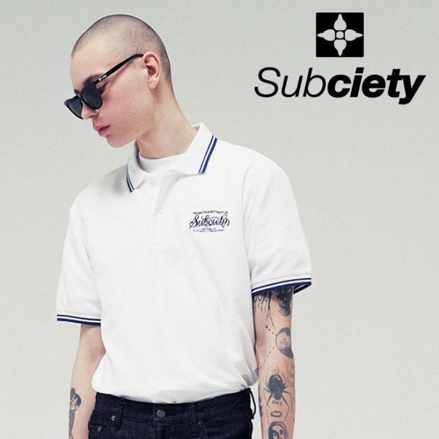【SALE30%OFF】 SUBCIETY(サブサエティ) POLO SHIRT-BABYLON- 【2019SUMMER新作】【セール】 【109-35415】【ポロシャツ】