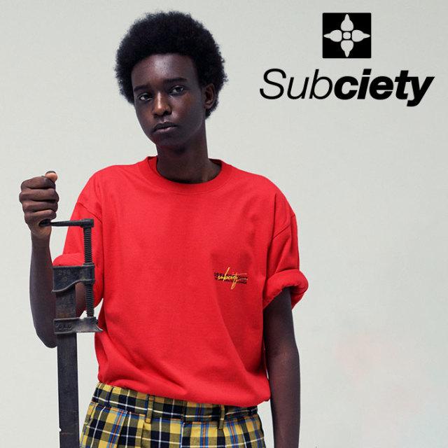 SUBCIETY(サブサエティ) USELESS ADULT S/S 【2019SUMMER先行予約】 【キャンセル不可】【109-40399】【Tシャツ】