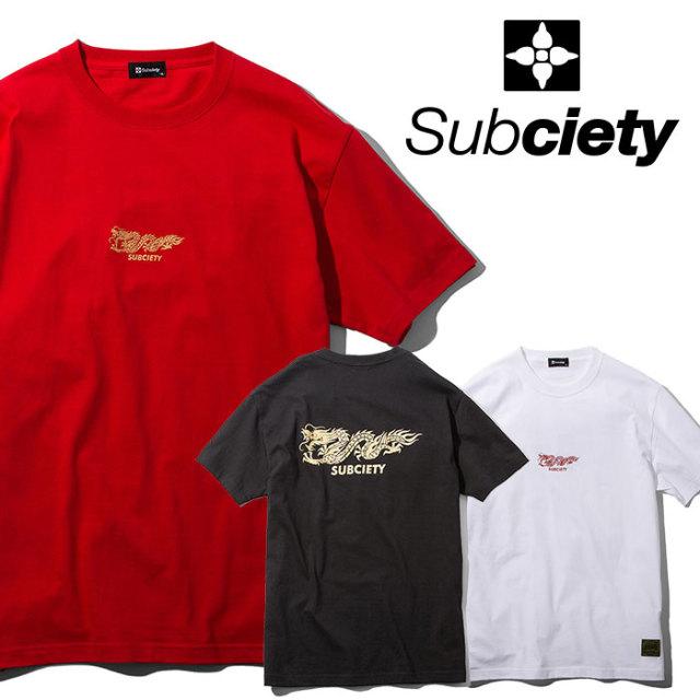 SUBCIETY(サブサエティ) DRAGON S/S 【2019SUMMER先行予約】 【キャンセル不可】【109-40401】【Tシャツ】