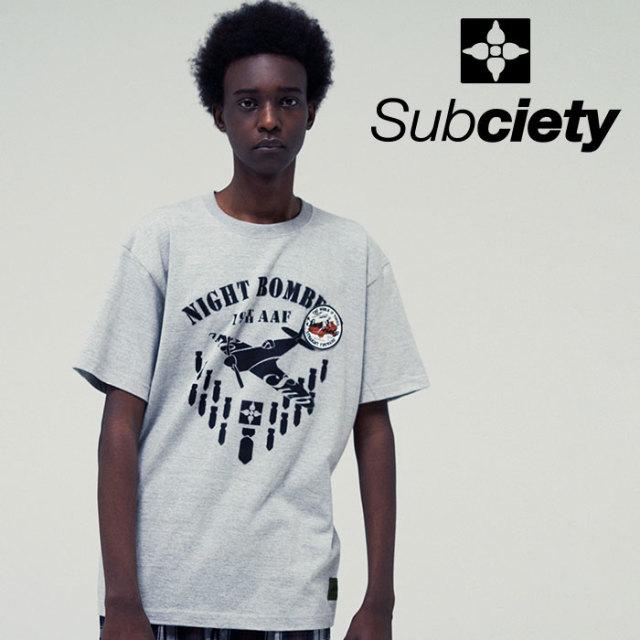 SUBCIETY(サブサエティ) NIGHT BOMBERS S/S 【2019SUMMER先行予約】 【キャンセル不可】【109-40408】【Tシャツ】