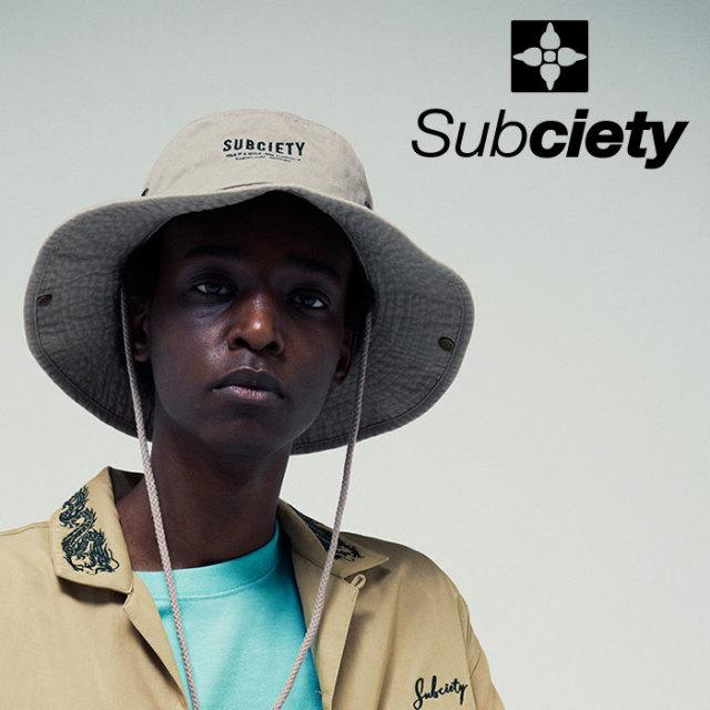 SUBCIETY(サブサエティ) BOONIE HAT  【2019SUMMER先行予約】 【キャンセル不可】【109-86422】【ハット】