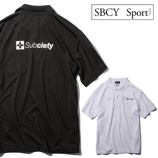 SUBCIETY SPORTS(サブサエティ スポーツ) DRY POLO SHIRT 【2019SUMMER先行予約】【キャンセル不可】 【119-35029】【ポロシャツ