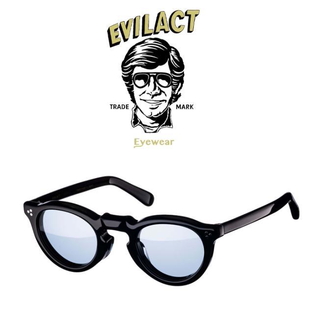 EVILACT EYEWEAR (イーブルアクトアイウエア)  GREEVES(グリーヴス) CLEAR BLACK/BLUE LENS  【サングラス メガネ】【EAE21-06GLEE