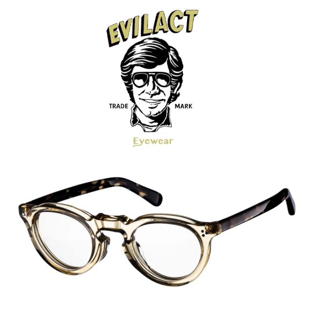 EVILACT EYEWEAR (イーブルアクトアイウエア)  GREEVES(グリーヴス)  ANTIQUE CLEAR/DARK CREAM DEMI/DIMMING LENS  【サングラス