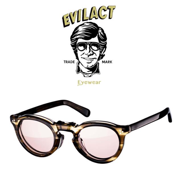 EVILACT EYEWEAR (イーブルアクトアイウエア)  GREEVES(グリーヴス)  DARK BROWN SASA/BROWN LENS  【サングラス メガネ】【EAE21-