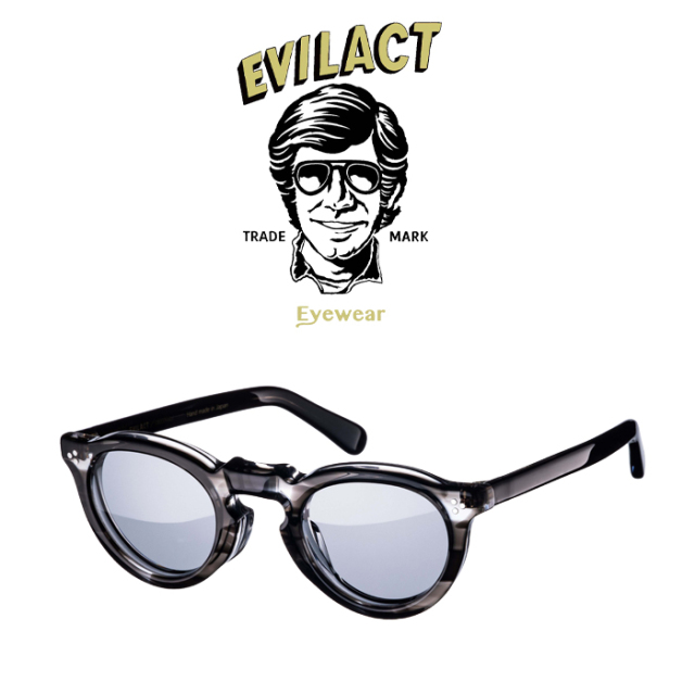 EVILACT EYEWEAR (イーブルアクトアイウエア)  GREEVES(グリーヴス)  BLACK SASA/SMOKE LENS  【サングラス メガネ】【EAE21-06GLE