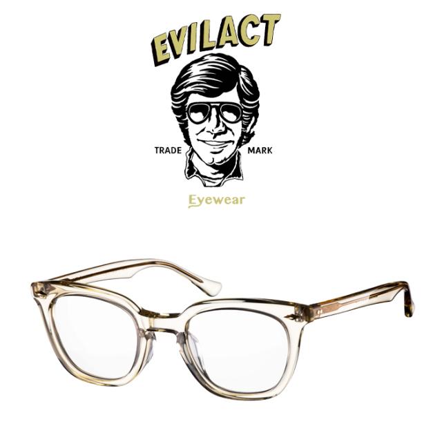 EVILACT EYEWEAR (イーブルアクトアイウエア)  MERKEL(マーケル) ANTIQUE CLEAR/DIMMING LENS  【サングラス メガネ 調光レンズ】