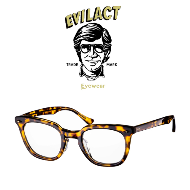 EVILACT EYEWEAR (イーブルアクトアイウエア)  MERKEL(マーケル) BROWN GLITTER×ANTIQUE CLEAR/DIMMING LENS  【サングラス メガネ