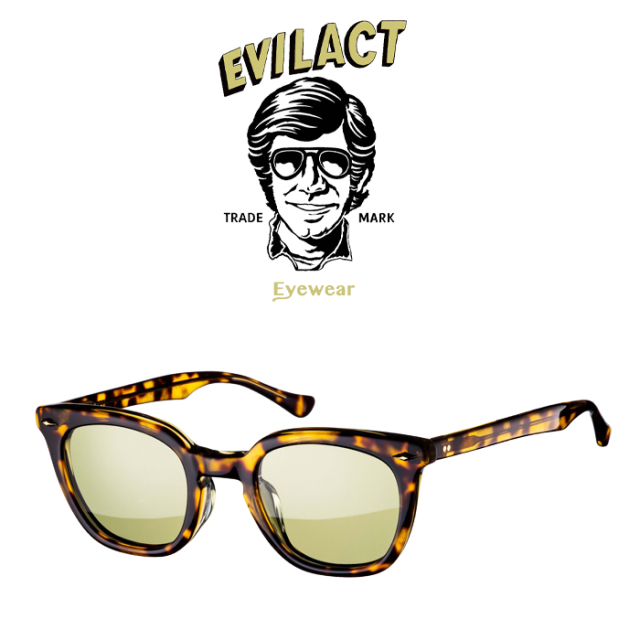EVILACT EYEWEAR (イーブルアクトアイウエア)  MERKEL(マーケル) BROWN GLITTER×ANTIQUE CLEAR/GREEN LENS  【サングラス メガネ】