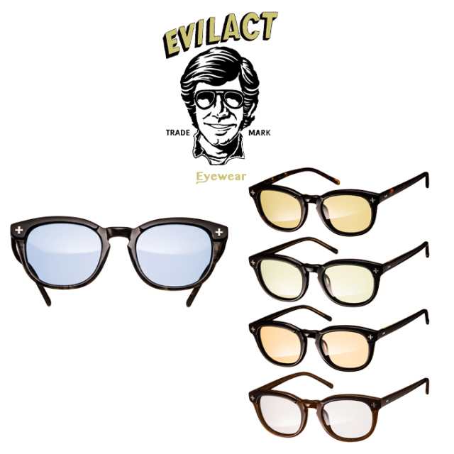 EVILACT EYEWEAR (イーブルアクトアイウエア)  YALE II   (イェール 2) COLOR LENS  【サングラス メガネ カラーレンズ】【EAE21-0