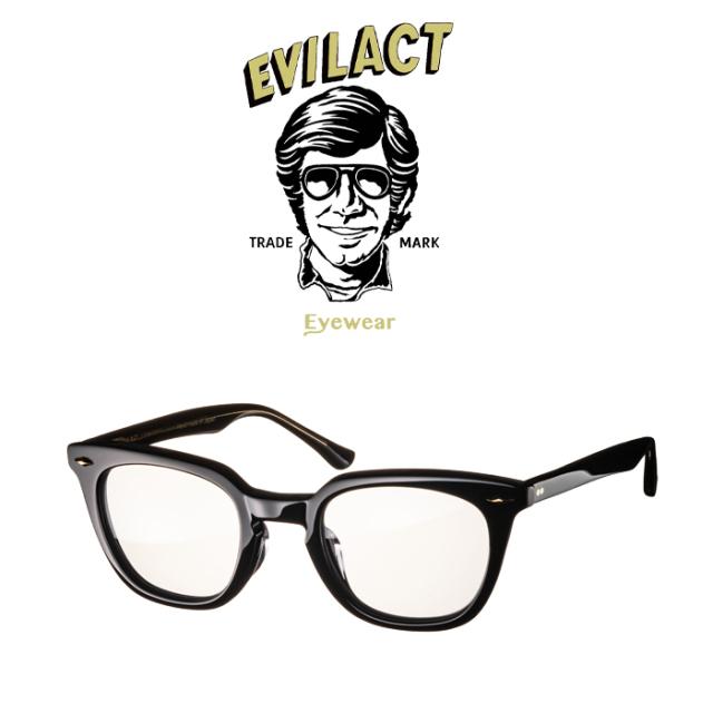 EVILACT EYEWEAR (イーブルアクトアイウエア)  MERKEL(マーケル) BLACK/BLACK×ANTIQUE CLEAR/DIMMING LENS  【サングラス メガネ