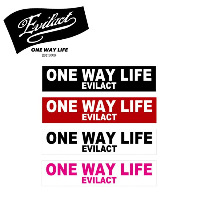 "EVILACT(イーブルアクト) ""ONE WAY LIFE"" STICKER 【ステッカー シール】"