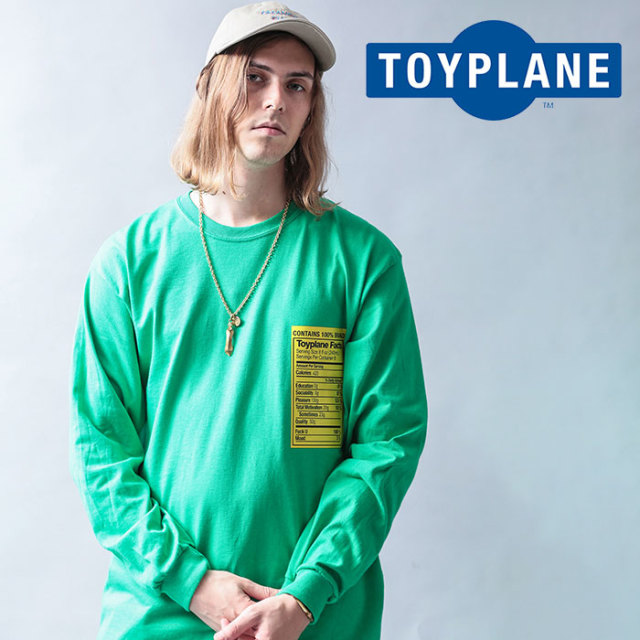 TOYPLANE(トイプレーン) L/S CONTAIN TEE 【2019 LATE FALL&WINTER先行予約】【キャンセル不可】 【TP19-FTE01】【ロングスリーブ