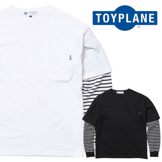 TOYPLANE(トイプレーン) BORDER LAYERED BIG TEE 【ビッグTシャツ】【2020 1st 先行予約】【TP20-HCS02】【キャンセル不可】