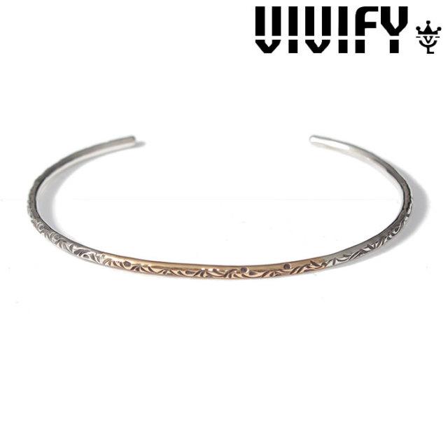 VIVIFY(ヴィヴィファイ)(ビビファイ) Arabesque Bangle/k18gold MIX(2mm body) 【VIVIFY バングル】【VFB-151】【オーダーメイド